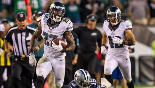 Eagles safety Malcolm Jenkins, shown recovering a fumble