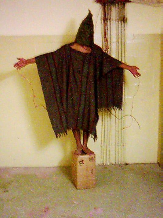 AP PHOTOS OF THE DECADE IRAQ ABU GHRAIB PRISONER ABUSE I FILE IRQ