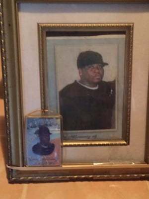 Photos of Timothy Hollins at his mother's house.