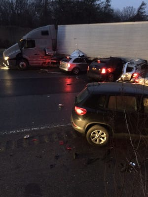 A Dover man was one of two people killed after a tractor-trailer jackknifed on I-476 in Philadelphia and 10 other vehicles were involved in the crash, also injuring five other drivers, Pennsylvania State Police said.