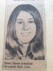 Diane Schofield as she appeared in this photograph that accompanied a 1975 Des Moines Register story reporting her unsolved strangulation death.