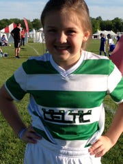 Lauren Hamlin, 8, of Canton, loves everything about the Canton Cup. She is a player for the Canton Celtic '07 Black team.