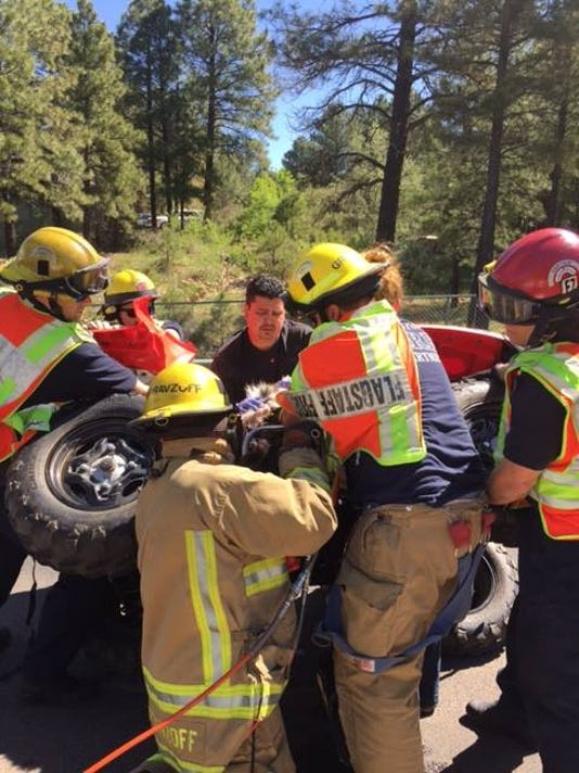 Flagstaff Fire Department rescues dog