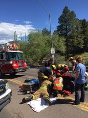 Flagstaff firefighters worked for 48 minutes to free