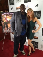 "Kevin Brown and Kelsey O'Brien at a screening of ""Enchantments"" in May at the SOHO International Film Festival in New York City."