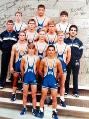 Rudy Guevara and his team at the Junior World Games in Istanbul, Turkey in 1991.