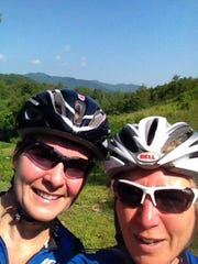 Riders in last year's Hot Doggett 100 were asked to take selfies while on the ride through Madison County.