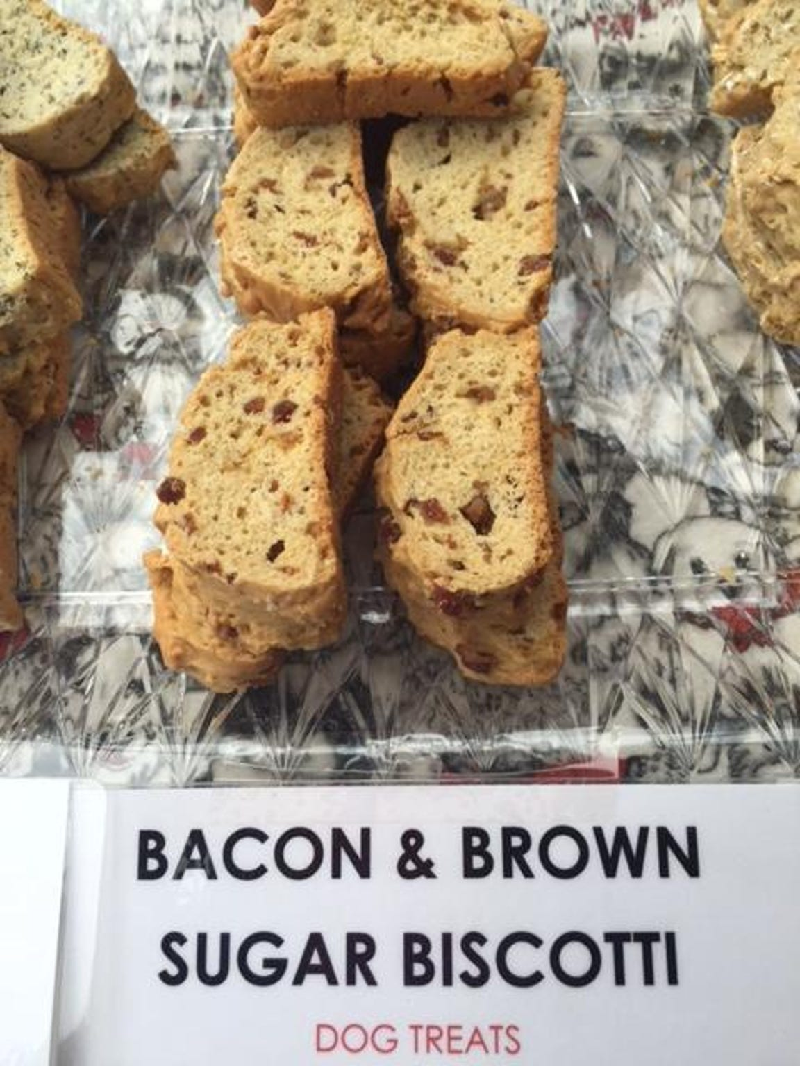 Dog biscotti from Two Spoiled Danes Bakery.