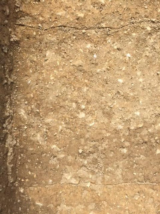 This 2-foot-wide stain found at the Camp Security dig site could mark the site of a fence for the Revolutionary War prison camp.