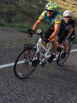 Bob and Carol Hollowell embarked Thursday on a cross-country trip to raise awareness and funds to fight poverty.