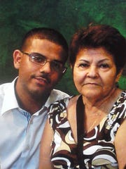 Erik Miranda, pictured with mother Maria Miranda, died Sunday after a shooting.