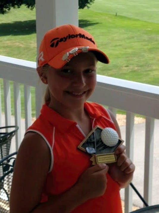 Heather Sanbower was the champion of the girls 10-11 division at the local Drive, Chip and Putt Championship competition earlier this month in Carlisle.