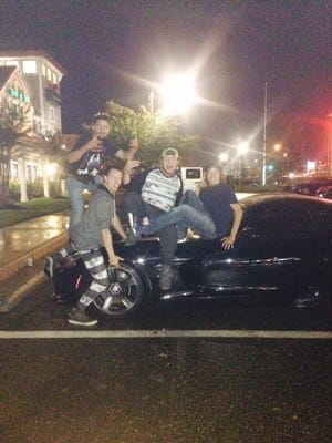 The Worcester County Sheriff's Office released this image on Facebook of suspects with a Dodge Viper.