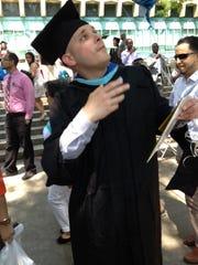 Daren Gajdusek of Yonkers at his 2013 graduation from