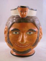 Grinning Satyr Mask Jug,,attr. Enoch Wood, c.1800
