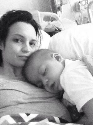 Brooke Kaitlyn McAllister and her son, Brady Kier.