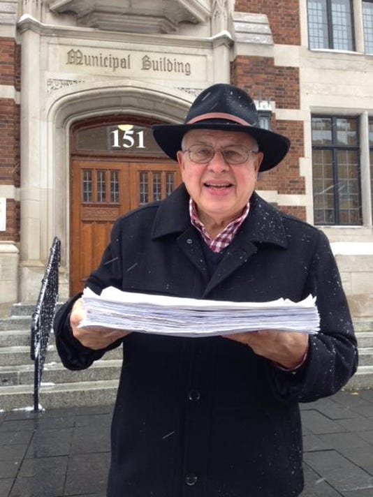 Jim Mirro Delivers Maple Road Petitions
