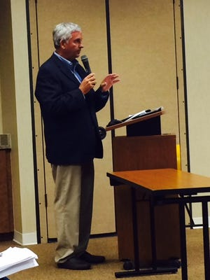 Attorney Ralf Brookes told the Estero Village Council that it has the power to enact a fracking ban during a public hearing Wednesday night.