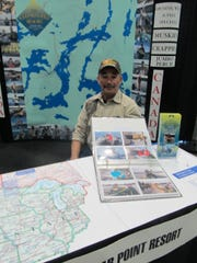 One of the fishing resort booths had Ray Pfieffer,