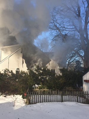 A smoky fire badly damaged this home on Miller Road in Point Pleasant Saturday morning.