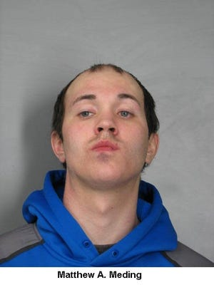 Matthew Meding, 26, was arrested by Delaware State Police on Thursday.