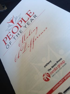 The program from the 2015 People of the Year event at the Cape Coral Yacht Club.