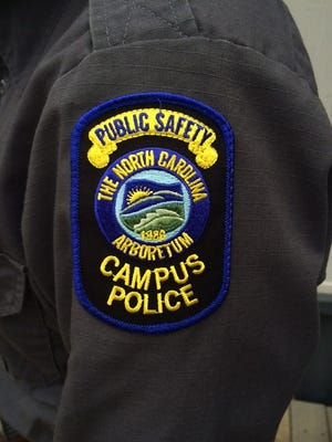 North Carolina Arboretum Police are sworn officers, just like any other campus police officers in North Carolina.