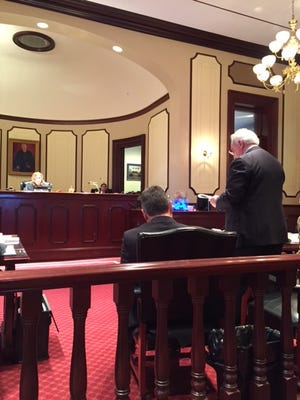 John Buonocore, who represents several oceanfront property owners in Ocean County, speaks at an eminent domain hearing before Superior Court Assignment Judge Marlene Lynch Ford