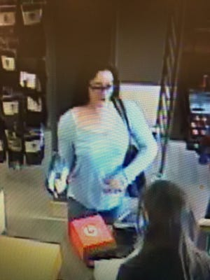 State police are trying to identify this suspect in a Cortlandt larceny investigation. Police are investigating a string of purchases made in early March 2016.