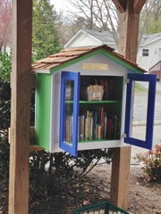 This miniature library was installed in a mobile home