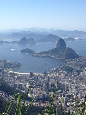 Dr. Mark Lavallee submitted this photo of the view of the famous Rio de Janeiro beach and Sugarloaf Mountain as seen from the Christ the Redeemer statue.