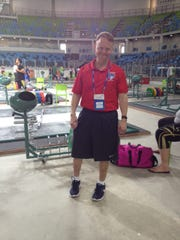 York County Dr. Mark Lavallee poses inside the Olympic Park training hall Carioca 2 in Rio de Janeiro.