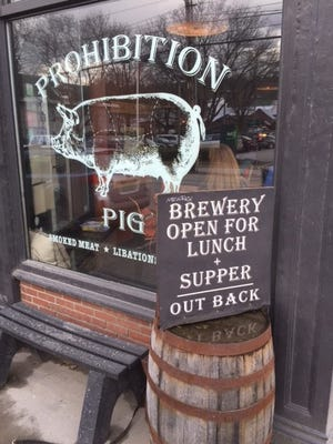 Prohibition Pig Brewery in Waterbury is next to the original Prohibition Pig restaurant.