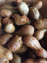 Boiled peanuts at Prohibition Pig Brewery in Waterbury.