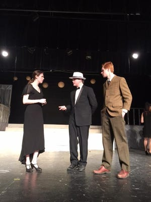 """Hoover High School students rehearse for the upcoming """"The Great Gatsby"""" production."""
