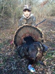 Sam Vils of Mazomanie with a big turkey