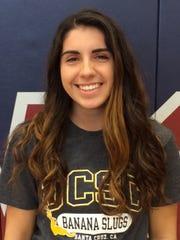 Kyrsti Photias will play volleyball for UC Santa Cruz.