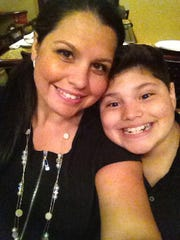 Krystle and her son Dylan on his 12th birthday.