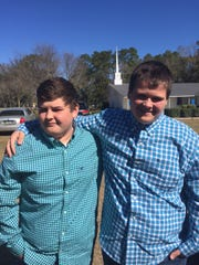 Noah Williams, left, and his younger brother, Mason Williams.