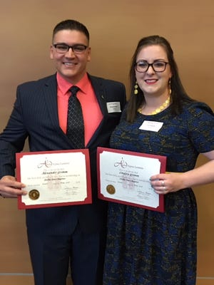 Alex and Lindsey Grimm of Ankeny, both 30, are earning bachelor's degrees at Simpson College.
