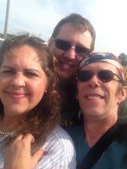 Siblings Melina Stanny, 54, David Kelso, 52, and John
