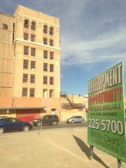 River Oaks Properties demolished several buildings across the street from Abraham's Caples Building at 300 E. San Antonio Ave. and Mesa Street in Downtown El Paso.