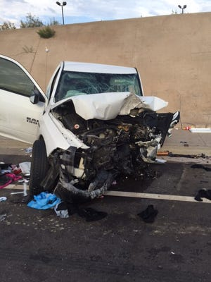 The Maricopa County Sheriff's Office identified the two people who died after a collision near SR85 in Gila Bend Friday.