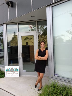 Jacqueline Pappas outside the new Asbury Park Chamber of Commerce offices.