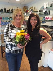 Diva Linda is all smiles with team member Danielle of Panache Hair Salon and Day Spa in Whitehouse Station. Founded by Basking Ridge residents and breast cancer survivors Peggy Matzen and Debbie Sestokas, Diva For A Day was created in Sept 2010 to help women facing illness feel beautiful and special.