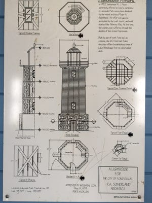 A display show original lighthouse dimensions.