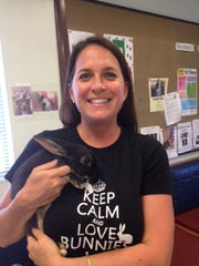 Jennifer Macbeth, president Southwest Florida House Rabbit Rescue drove to Jacksonville to help the abused bunny.