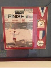 One of Bill Kalmar's favorite memories in 38 years of running is the 1987 Detroit Free Press Marathon, which he finished in 4:32:20.
