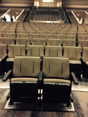 New seating at the Kickapoo High School auditorium.