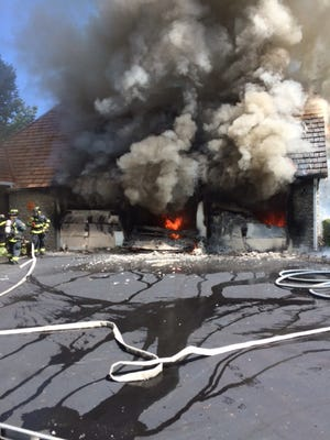 A fire ripped through a Geist home on Sunday.